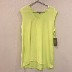 Vince Camuto Neon Yellow Green Tank Top Medium